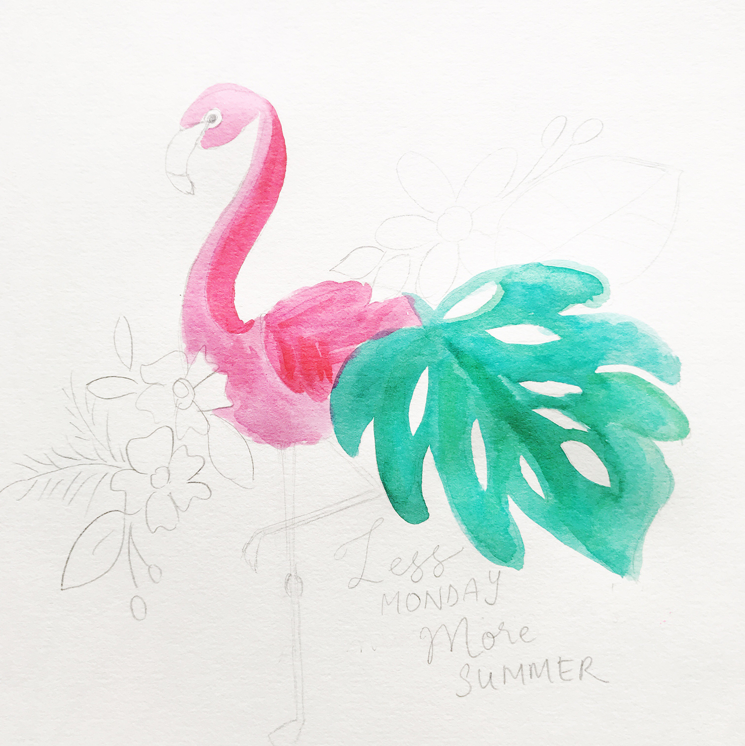 Summer Watercolor Quote Sketch Tutorial - Tombow USA Blog