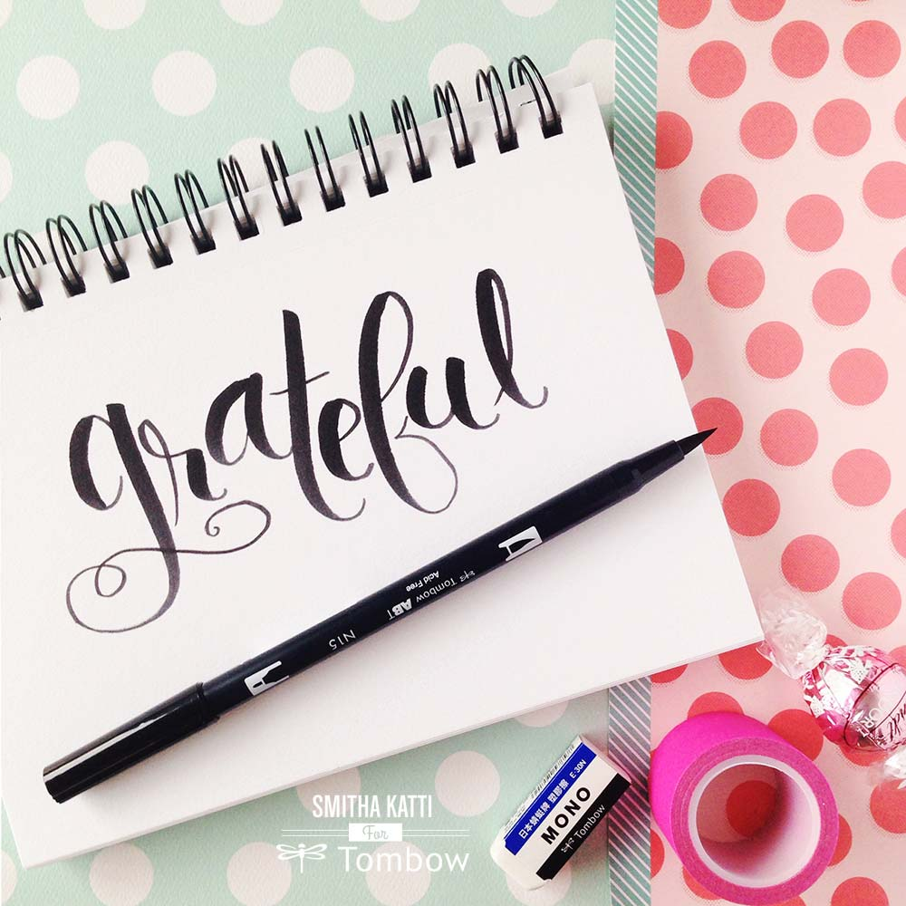 Lettering With The Tombow Beginners Lettering Set