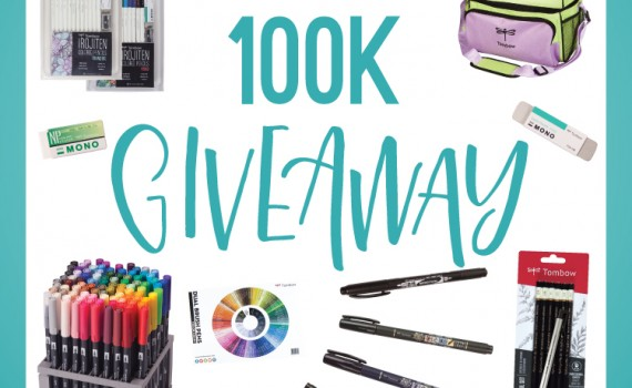 Enter Tombow's 100k Giveaway on Instagram! Find out how at instagram.com/tombowusa