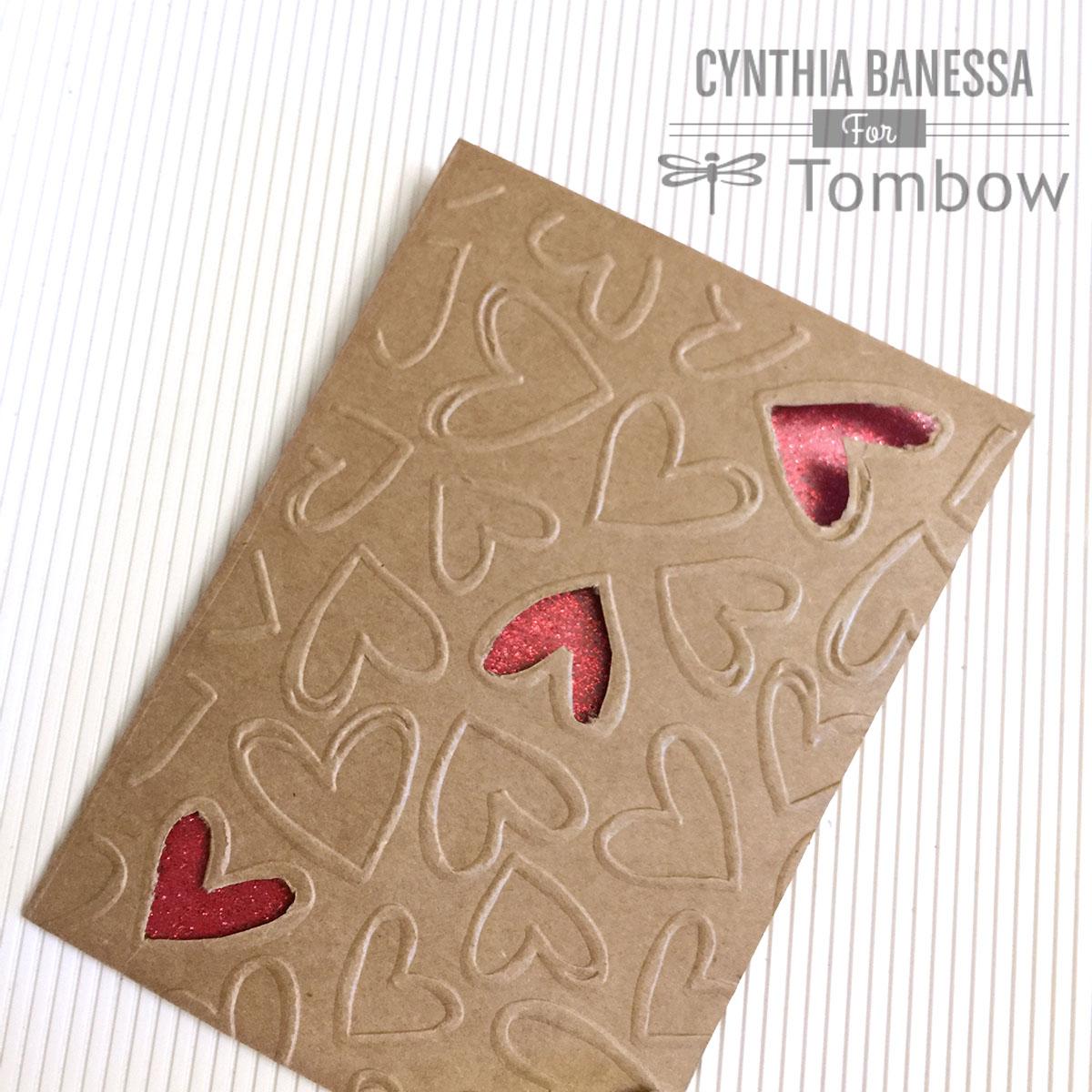 Diy Valentine Card For Him Tombow Usa Blog