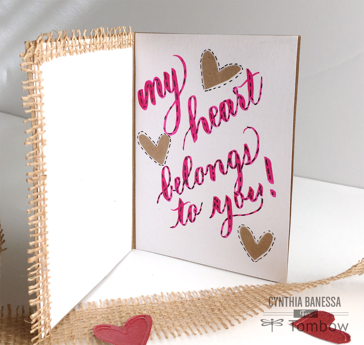 DIY Valentine Card For Him  Tombow USA Blog