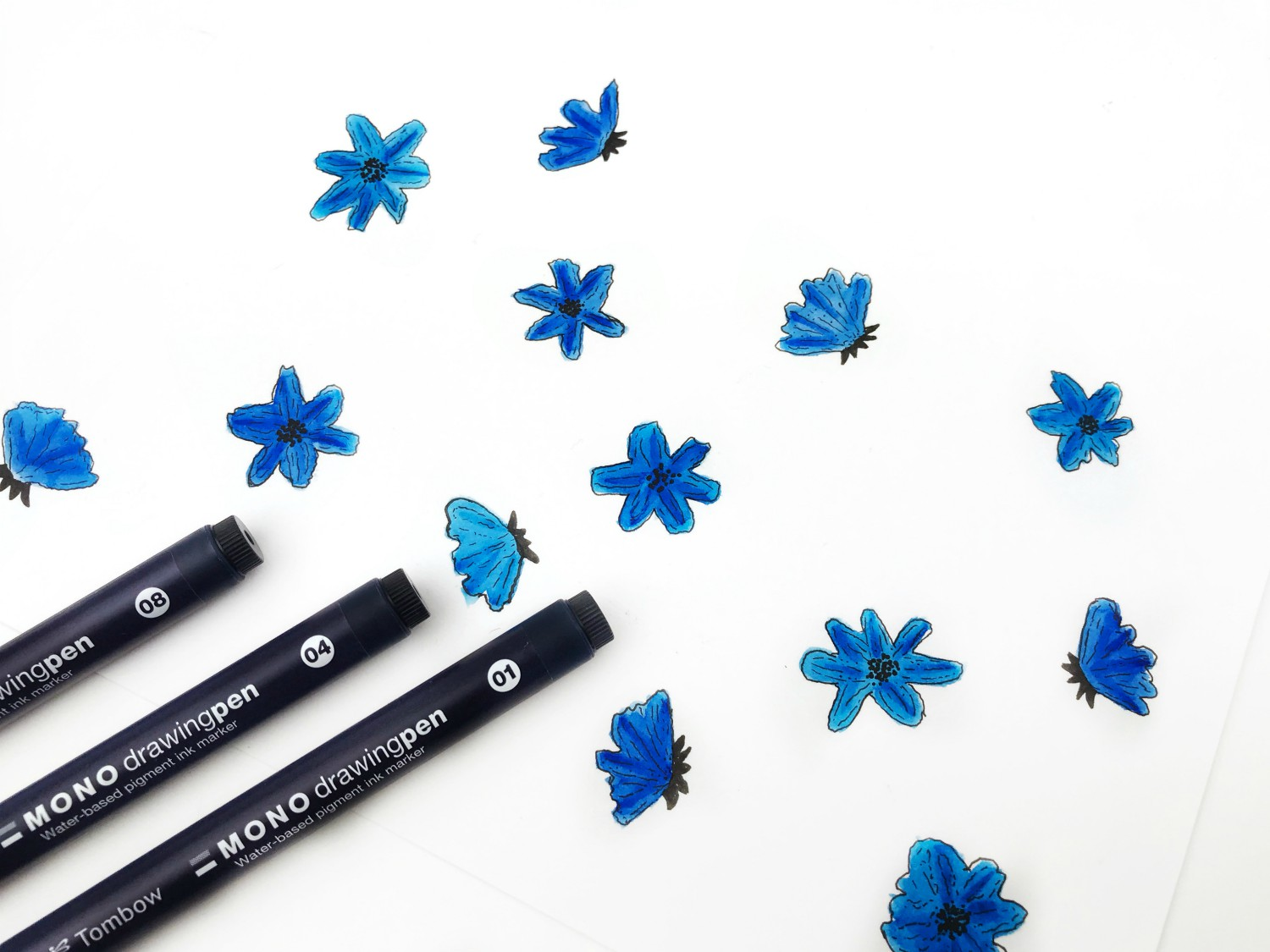 How To Create Easy Watercolor Flowers Tombow Usa Blog
