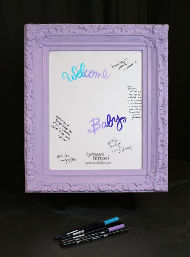 Welcome Baby Signature Sign - JPriest
