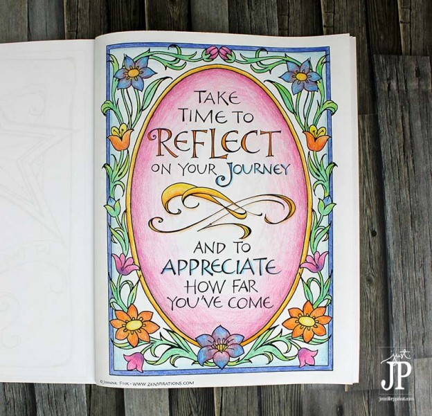 Zenspirations Coloring Book page by Jennifer Priest with Tombow Recycled Colored Pencil JPriest