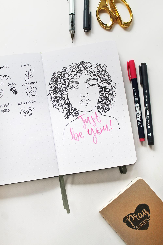 Easy Zentangle Portrait Drawing Tombow Usa Blog