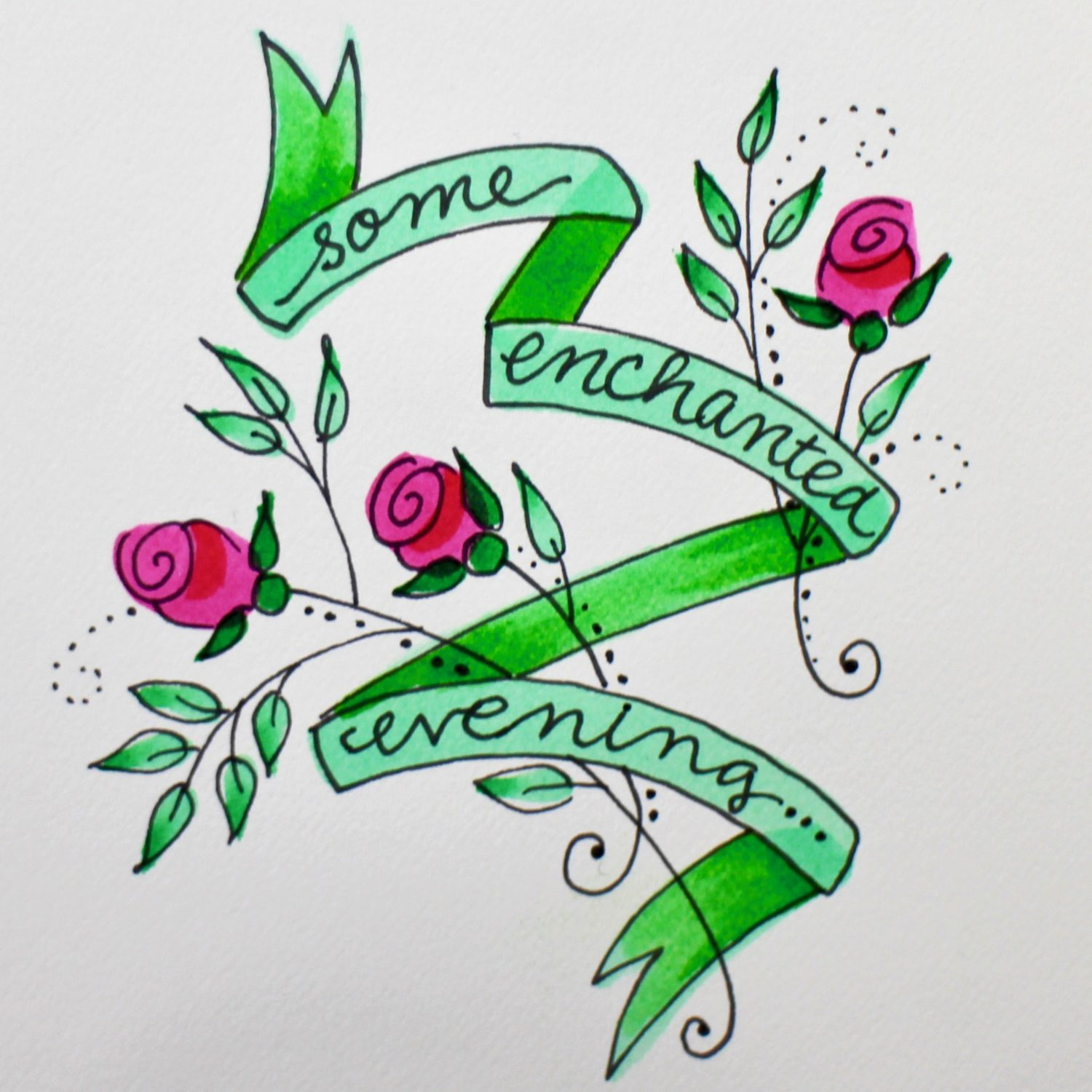 enchanted evening banner and rose s