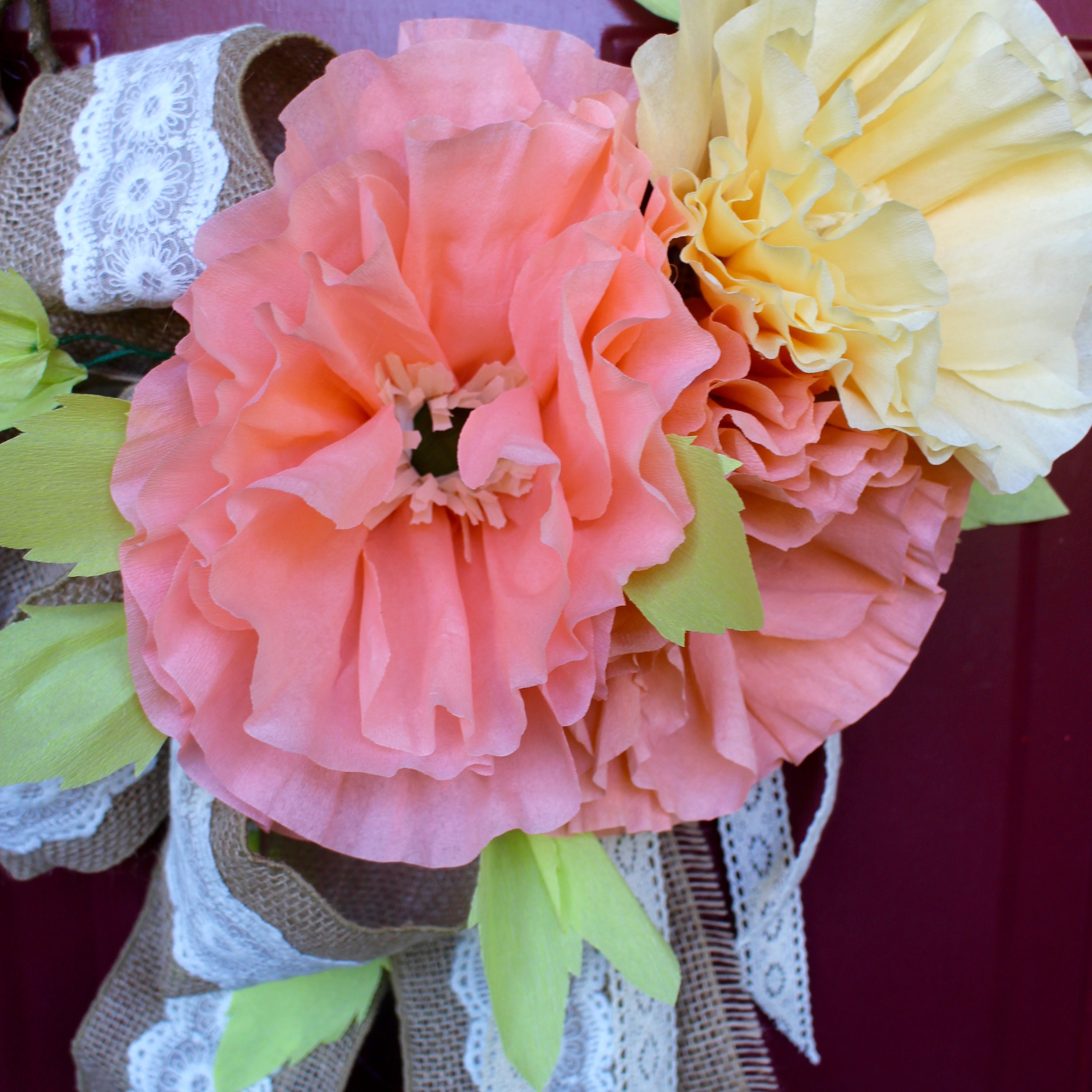 Crepe Paper Flower Wreath Tombow Usa Blog