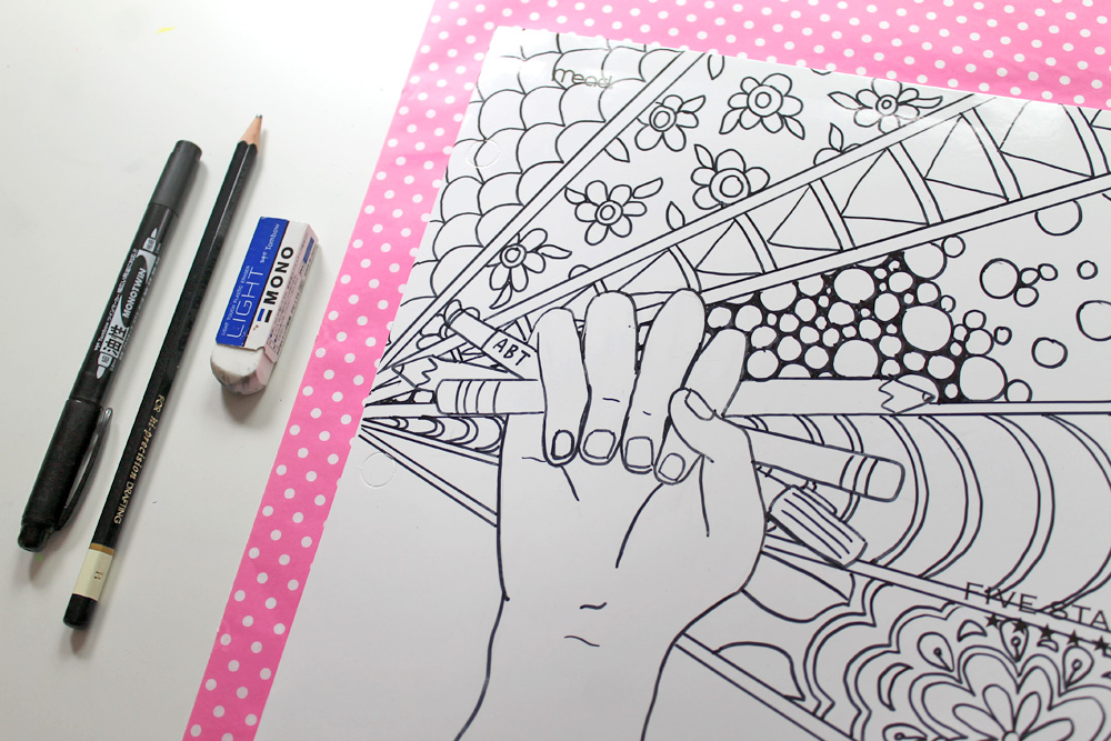 Create Your Own Coloring Page Back To School Supplies
