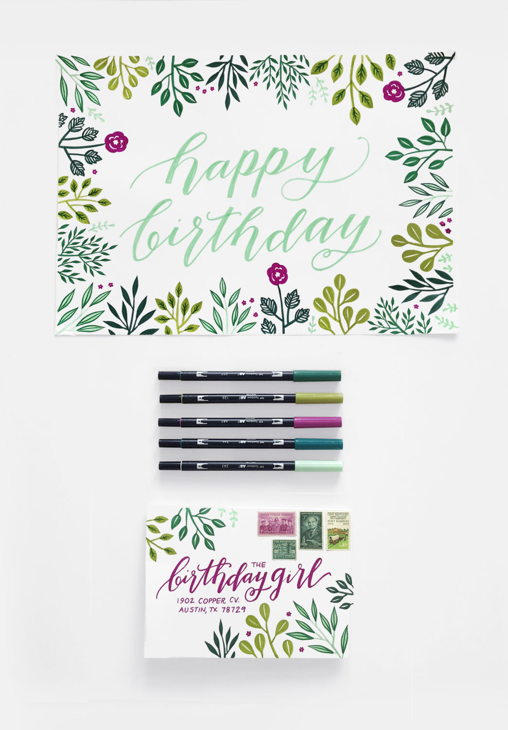 Create A Birthday Card And Envelope With One Sheet Of Paper 4