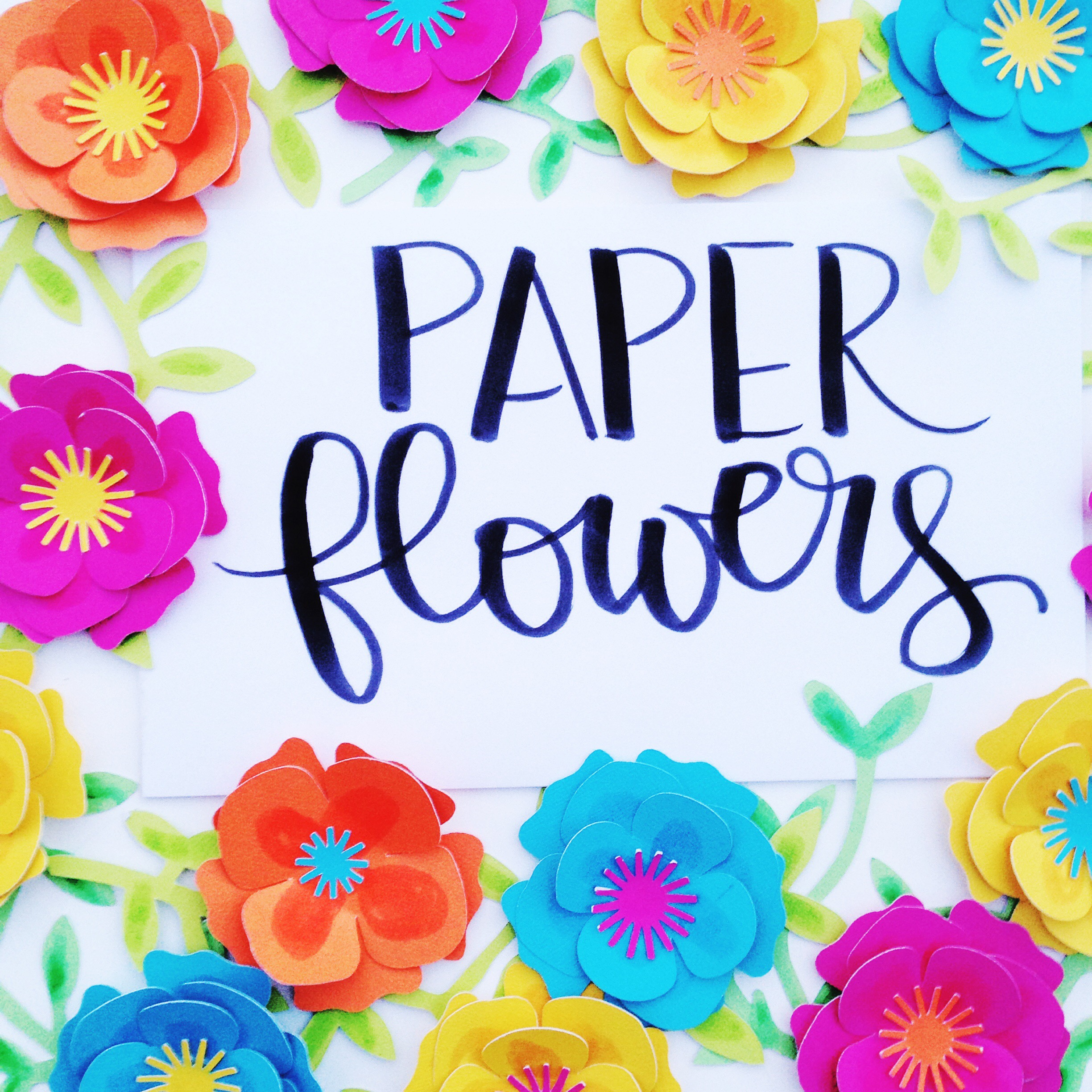 Diy Paper Flowers With Cricut And Tombow Tombow Usa Blog