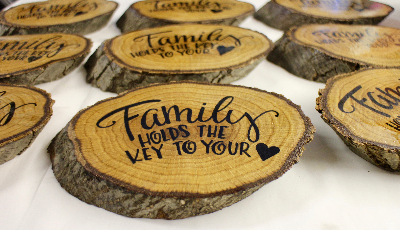 lettering on wood