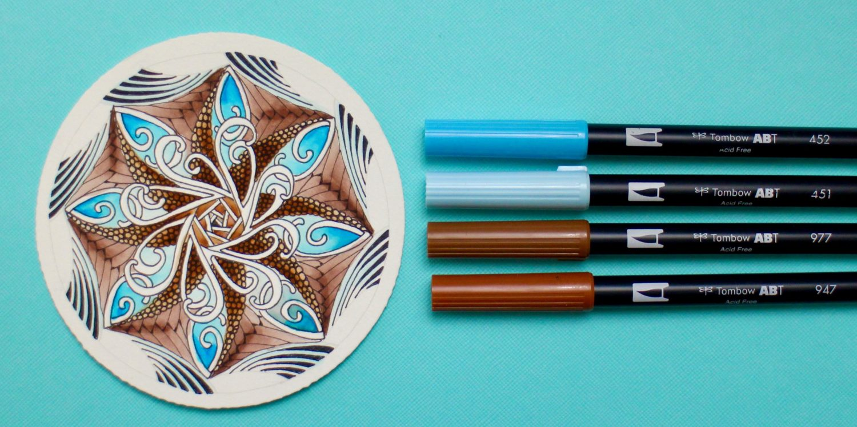 @mariebcreates #zentangleart #dualbrushpens #colorful Develop Skills