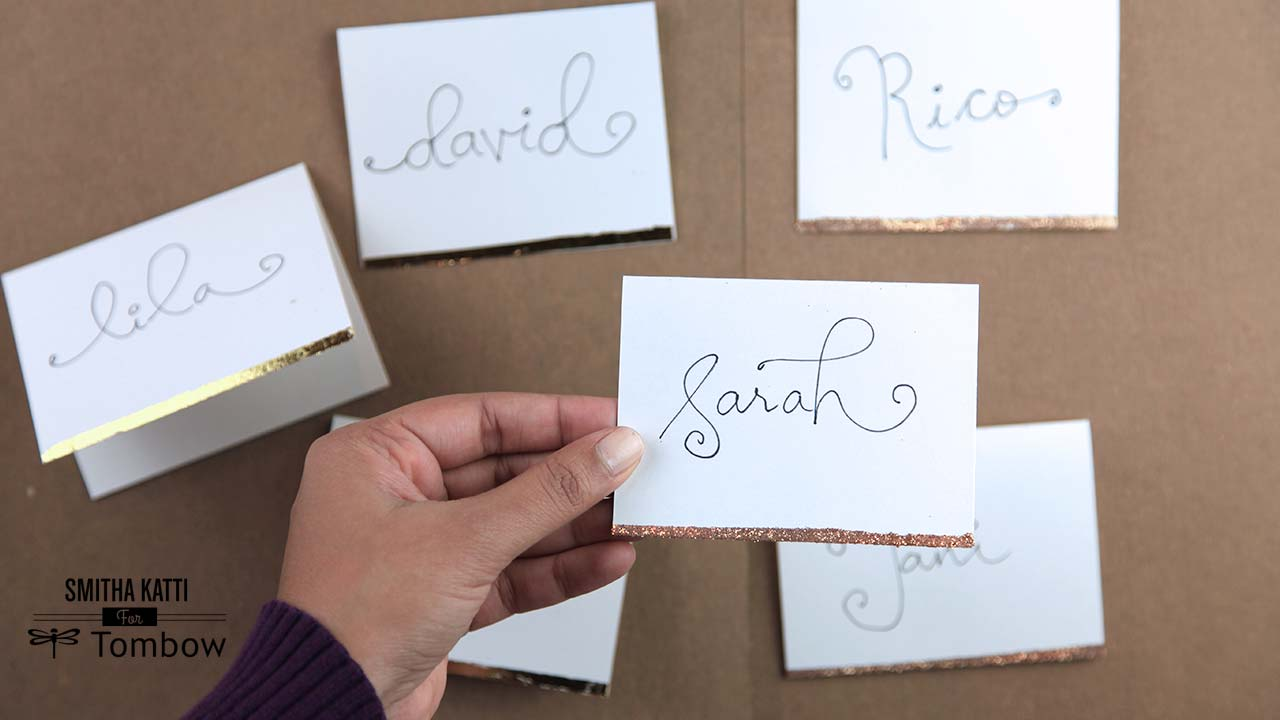 diy holiday place cards tombow usa blog