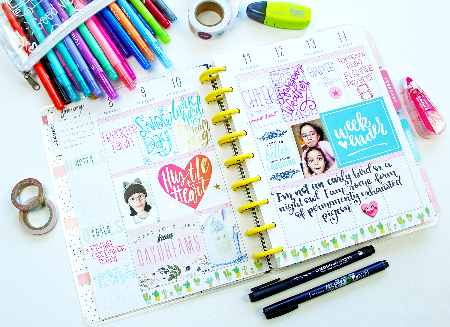 If getting organized is on your agenda this year check out this list! @jenniegarcian created this list with the best planner products! #planner #tombow