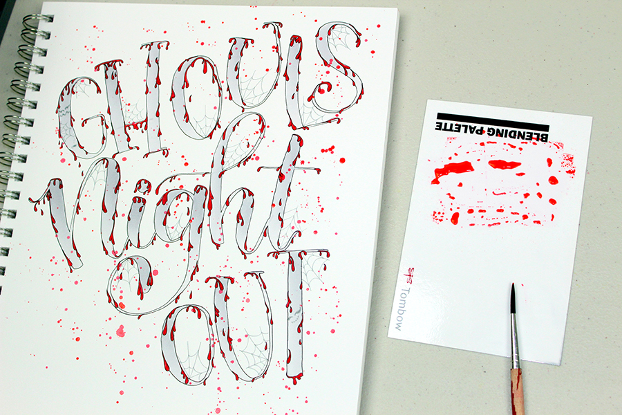 Spooky Lettering in 5 Easy Steps by @jenniegarcian using Tombow Products