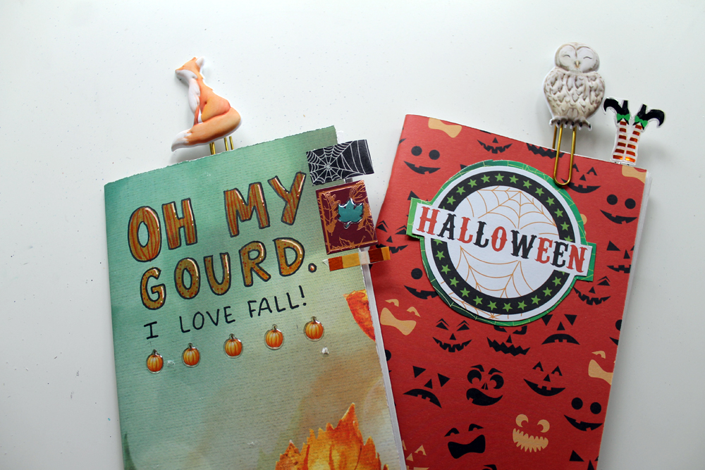 Create Autumn Inserts for you Traveler's Notebook! Tutorial by Katie Smith for @tombowusa