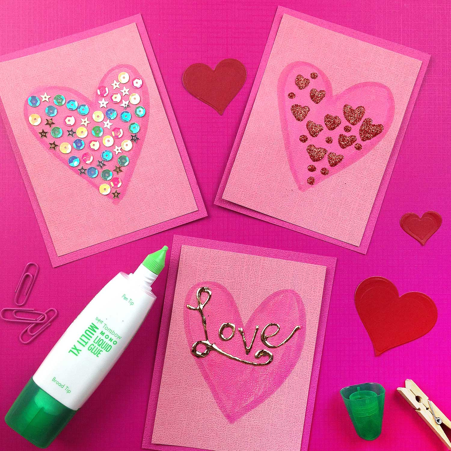 3 Diy Mini Valentine Card Ideas Tombow Usa Blog