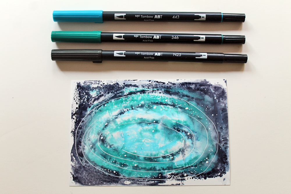 10 Galaxy color combinations you can create with @tombowusa Dual Brush Pens! by @punkprojects #tombow #tombowusa #galaxy