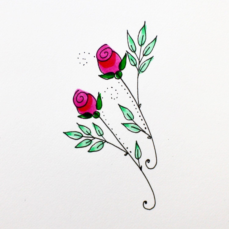 @mariebcreates #monodrawingpens step 5 roses